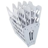 Лоток вертикально-горизонтальный СТАММ, пластиковый, 5ти секционный на 4 отд., серый (4) (ЛТ90)