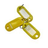 Бирка для ключей NONAME, желтая, (цена за 10 шт/уп) (300) (147843)