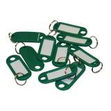 Бирка для ключей NONAME, зеленая, (цена за 10 шт/уп) (300) (147844)