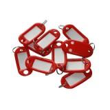 Бирка для ключей NONAME, красная, (цена за 10 шт/уп) (300) (147842)