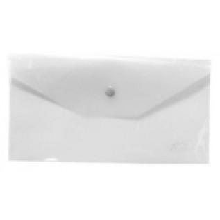 Папка-конверт на кнопке C6 ХАТБЕР, 180 мкм, 224*119мм, пластиковая, матовая (AKk6_00000) (032609)