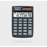 Калькулятор карманный SKAINER SK-108XBK, 8 разрядный., пластик, 58 x88 x10 мм, черный (50/200) (SK-1