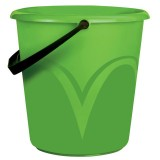 Ведро пластиковое ЛАЙМА, 10л, б/крышки, пищевое, мерная шкала, зеленое  (ЦВП-10) (603893)