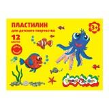 Пластилин КАЛЯКА-МАЛЯКА, 12 цв., 180,00 г, стек (20) (ПКМ12-П) (105290)