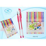 Набор гелевых ручек BASIR, флуоресцентные, 12 цветов (12/160) (212-12)