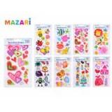 Наклейки декоративные MAZARI 3D, с блестками, 11,5х19,5см (M-8741)