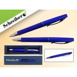 Ручка шариковая металлическая SCHREIBER, в футляре, синий  корпус, синяя (24/480) (S 3519)