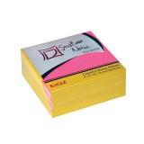 Блок бумаги для заметок EAGLE, с липким слоем, 75х75мм/300л., 2 цв. ассорти (12/48) (654-300NP) (060