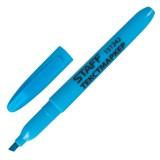 Маркер текстовый STAFF, 1--3мм, скошенный, голубой (151242)