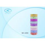Лента клейкая BASIR, бумажная, цветная, с рисунком ассорти, 3 м*1,5 см (Цена за 10 штук) (10/200) (М