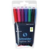 Набор линеров SCHNEIDER TOPLINER 967, 0,4 мм, 6 шт. в наборе (1/10) (196796)
