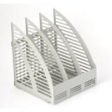 Лоток вертикальный ATTACHE, пластиковый, сборный на 3 отд., серый  (495651)